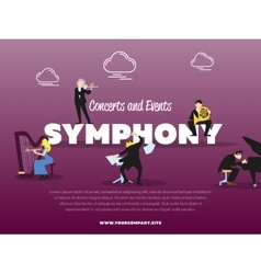 Concerts and events symphony banner vector image