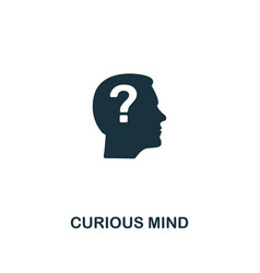 curious mind icon premium style design from vector image
