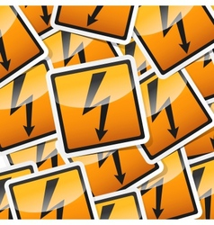 Danger symbols icon vector