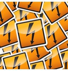 danger symbols icon vector image