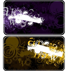 Decorative compositions with figures vector