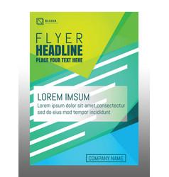design brochure flyer template vector image