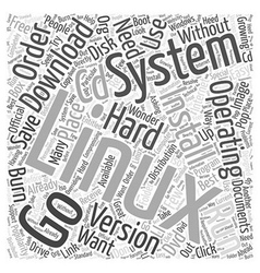 Download Linux Operating System Word Cloud Concept vector