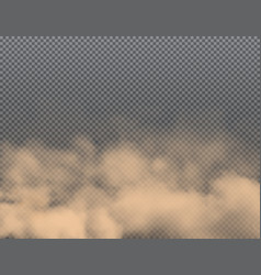 Dust dirt smoke clouds sand and dirt air smog vector