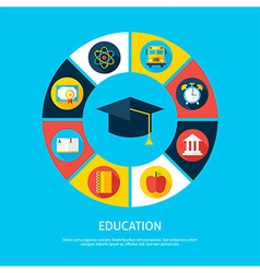Education Flat Infographic Concept vector