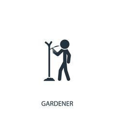 Farmer with gardening scissors icon simple vector