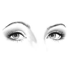 Female eyes look vector
