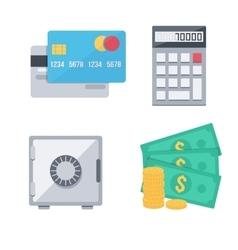 Finance money icons set vector image
