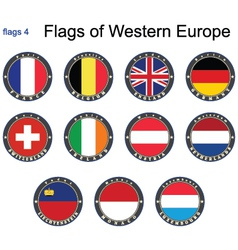 flags western europe vector image