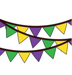 garland pennant banner decoration ornament vector image