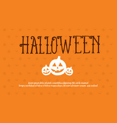 halloween style background collection design vector image