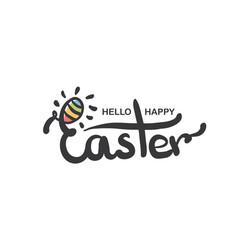 happy easter lettering modern hand written easter vector image