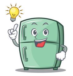 Have an idea cute refrigerator character cartoon vector