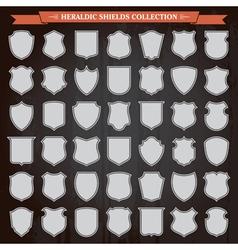 Heraldic shields set vector