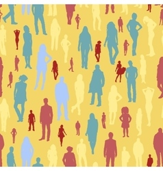 large group people seamless pattern vector image