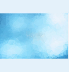 light blue abstract polygonal background an vector image