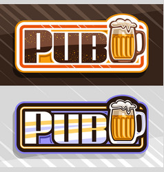 Logos for beer pub vector