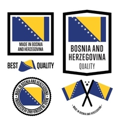 Made in Bosnia and Herzegovina label set vector image