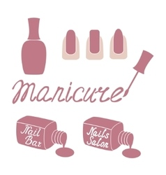 Manicure salon label vector image
