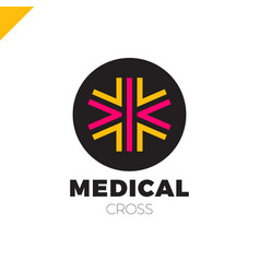 Medic cross icon pharmacy logo template corporate vector