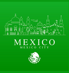 mexico travel landmarks vector image