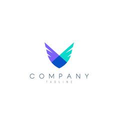 Modern 2 wings design concept suitable as a logo vector