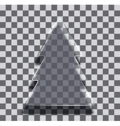 modern glass christmas tree background vector image vector image