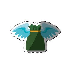 Money bag with wings vector