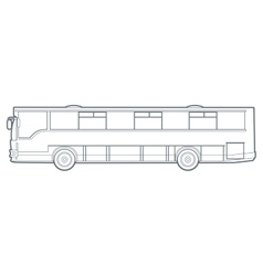 Outline city bus vector