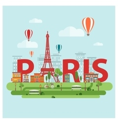 Paris city sign vector