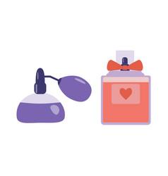 Perfume spray with atomizer icons vector