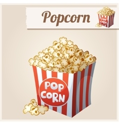 Popcorn box Detailed Icon vector image