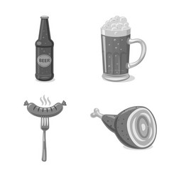 Pub and bar icon vector