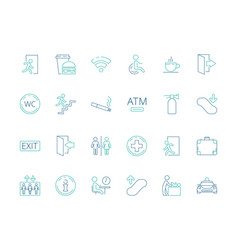 public symbols navigate pictogram disabled toilet vector image