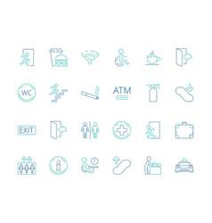 public symbols navigate pictograph disabled toilet vector image