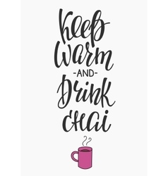 Quote Winter hot drink typography vector