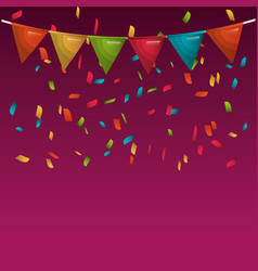 rainbow bunting hanging isolated vector image