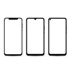 realistic smartphone isolated on a white vector image