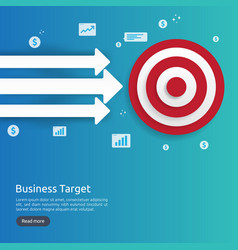 red dartboard center goal strategy achievement vector image