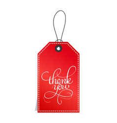 red paper gift tags with text thank you vector image