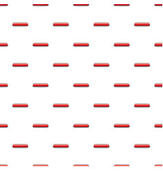 Red rectangular button pattern vector