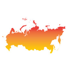 russia russian federation map colorful orange vector image