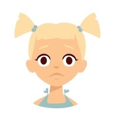 Sadness girl vector