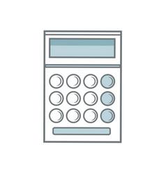 school calculator math number accounts vector image