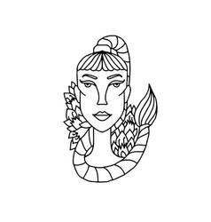 scorpio girl portrait zodiac sign for adult vector image