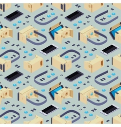 Seamless pattern with isometric parts of the vector