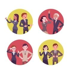 Set of four business scences vector