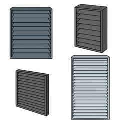 set of louver vector image