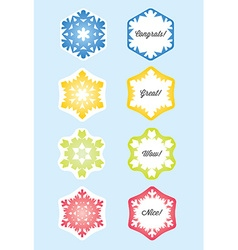 Snowflake Gift Card or Present Card vector image