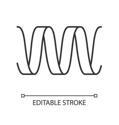 Sound wave linear icon thin line wavy ribbon vector